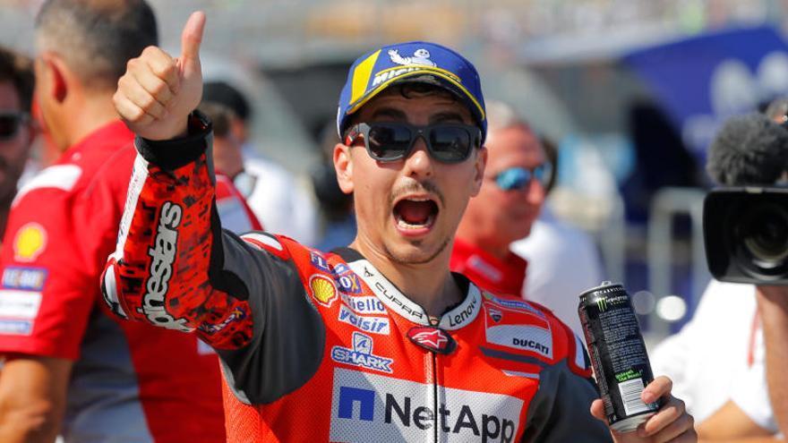 Lorenzo supera Dovizioso i Márquez en la baralla per la 'pole' del GP d'Aragó