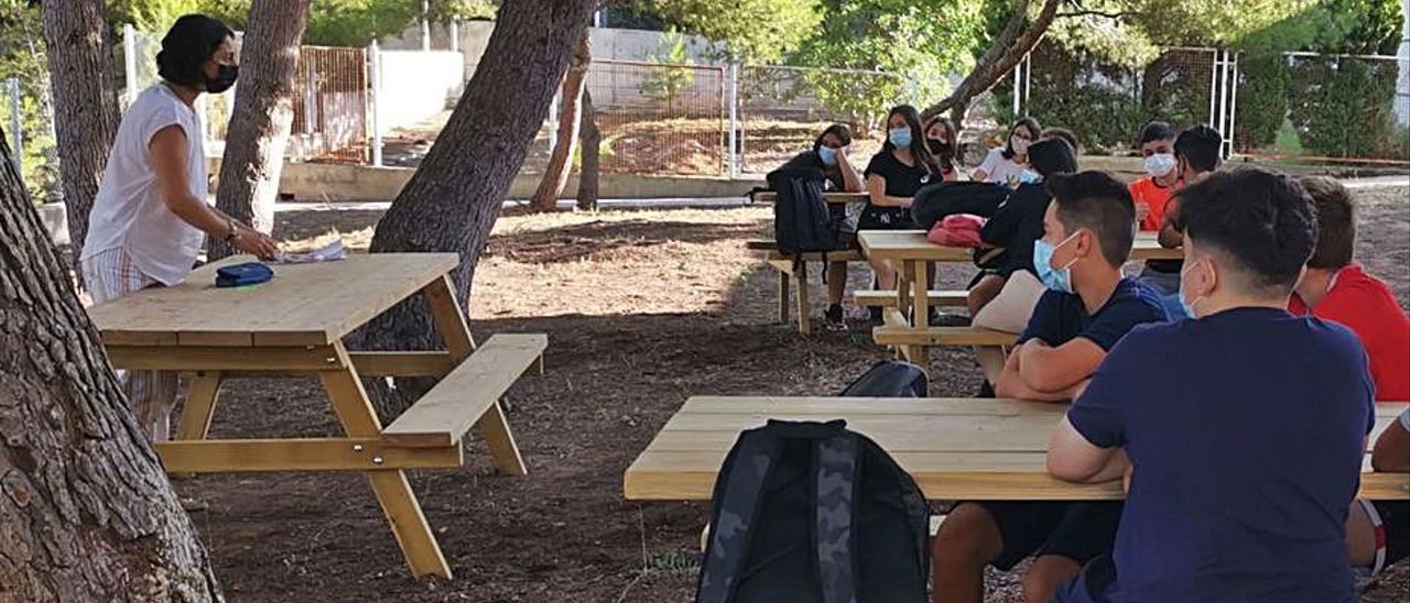 El aula Espai Bosc en el IES Clot del Moro. | LEVANTE-EMV