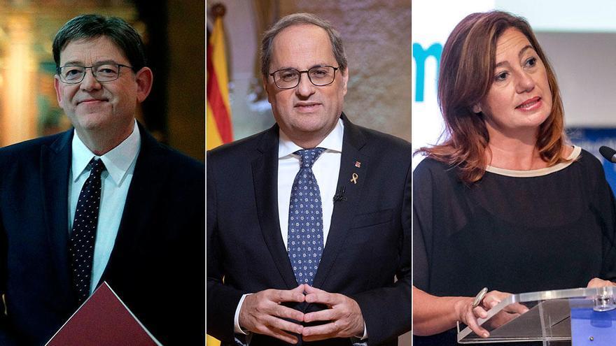 Torra invita a Balears a desafiar al Supremo y mantener las comunicaciones en catalán