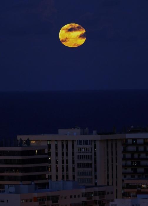 """Luna llena de """"las flores"""" sobre Las Palmas de ..."""