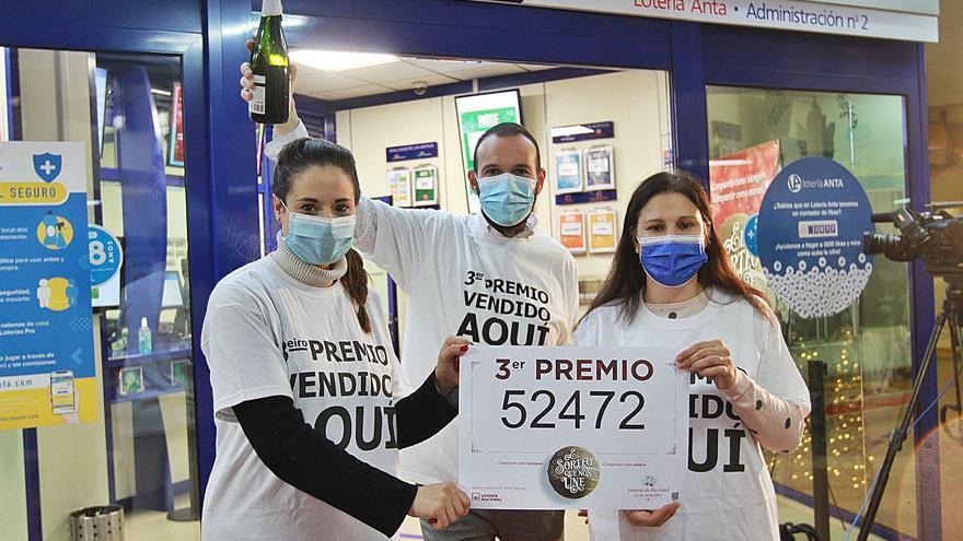 El 'cum laude' de un lotero de Ourense