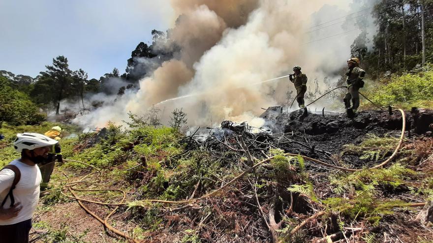Controlado un incendio que afectó a casi 2 hectáreas de monte en Pinténs