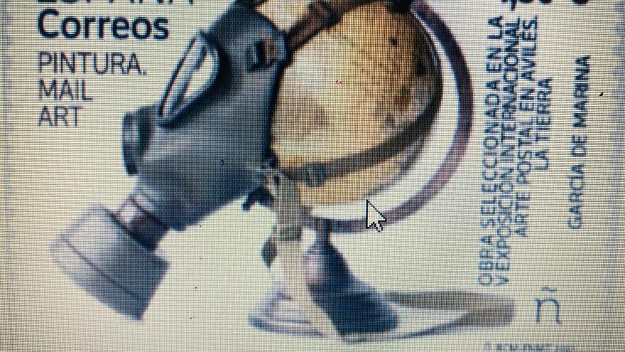 Correos emite un sello dedicado a la V Exposición Internacional de Arte Postal en Avilés