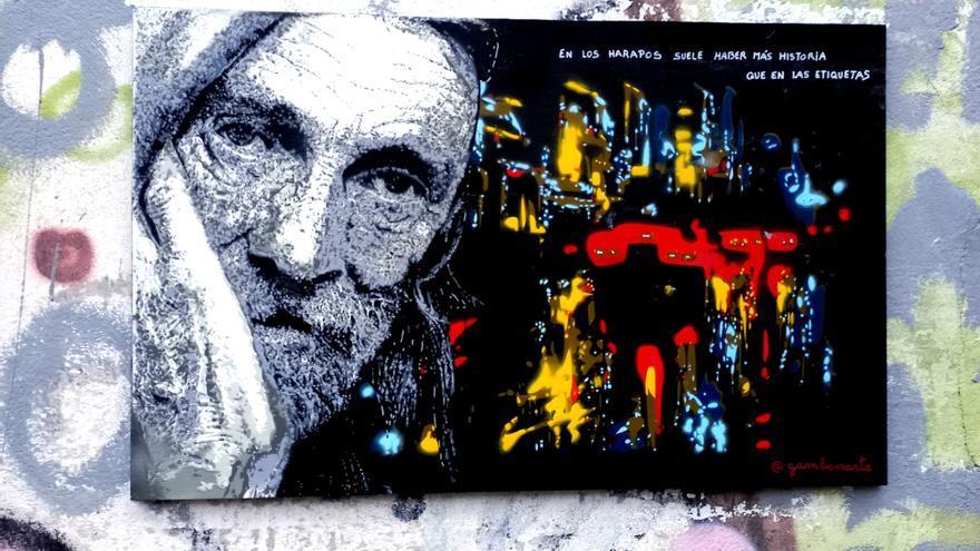 """""""Gamberr@rte"""" ataca de nuevo en la Pola y suma dos nuevos grafitis al arte callejero local"""