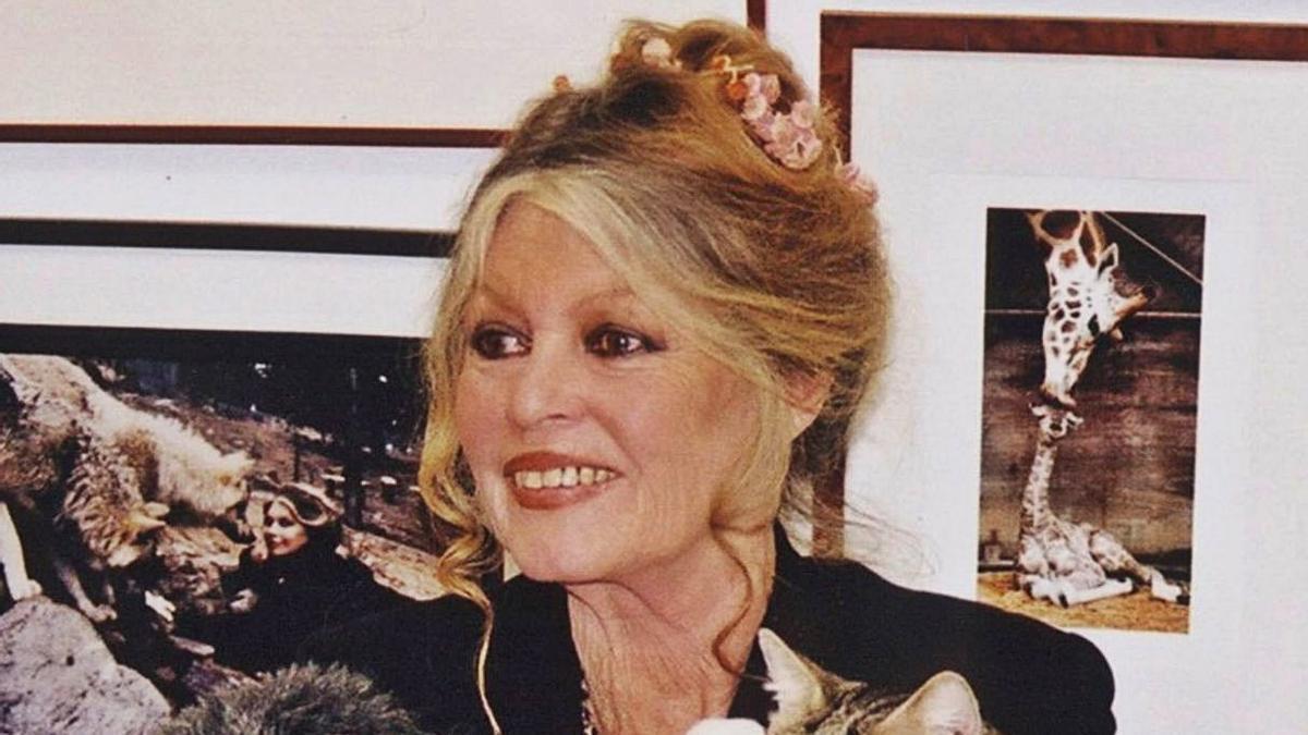 Brigitte Bardot,  en dos etapas de su vida.   LNE