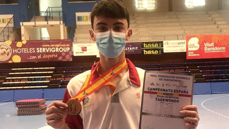 David Rodríguez, subcampeón de España de Taekwondo