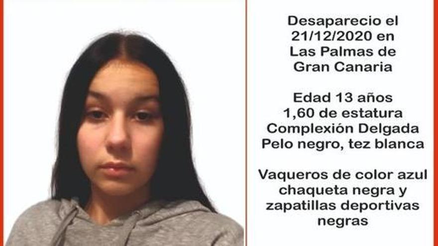 Localizan a la menor desaparecida en Las Palmas de Gran Canaria desde el pasado lunes