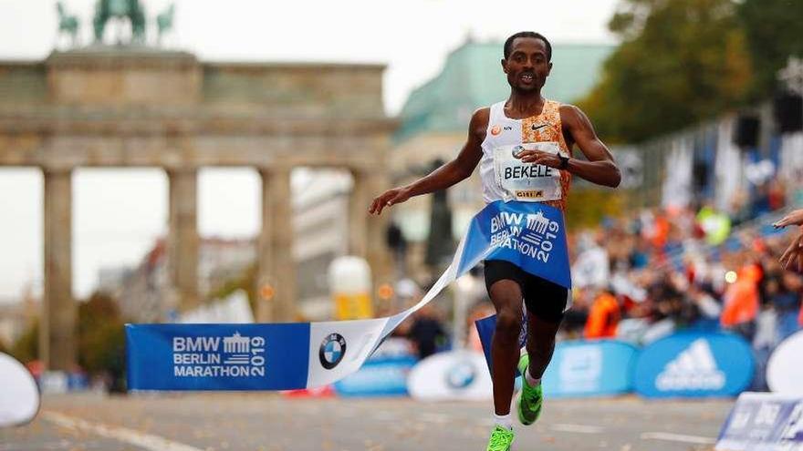 Kenenisa Bekele, a dos segundos del récord de Kipchoge