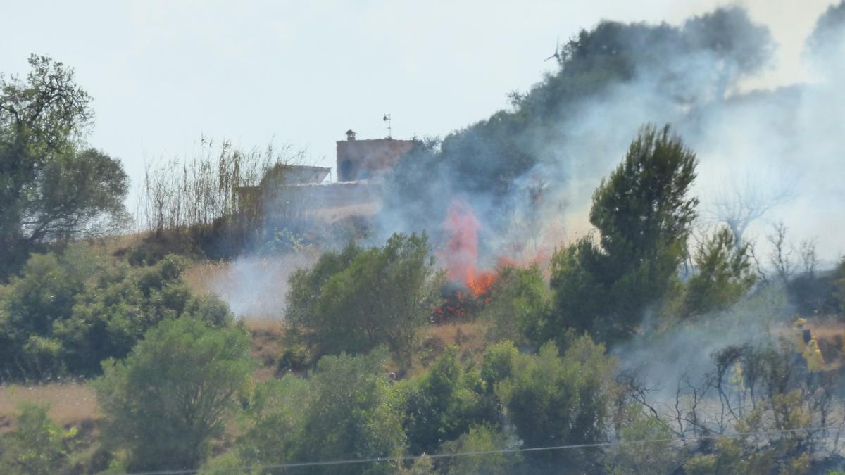 L'incendi de Vilafant és el segon aquest cap de setmana a l'Alt Empordà.