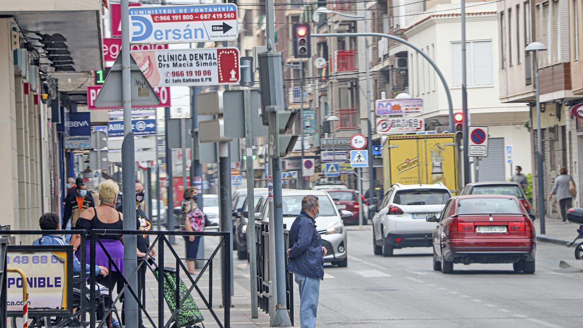 Una de las calles comerciales de Callosa de Segura