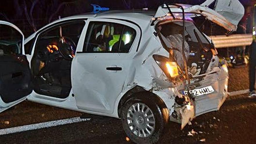 Dos heridos en un choque causado por un jabalí en Allariz