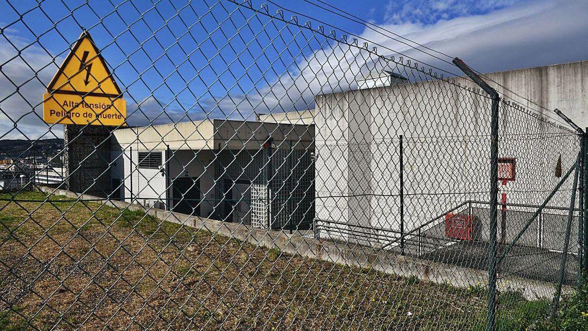 Instalaciones de la subestación de Eirís que será ampliada tras obtener permiso de la Xunta.