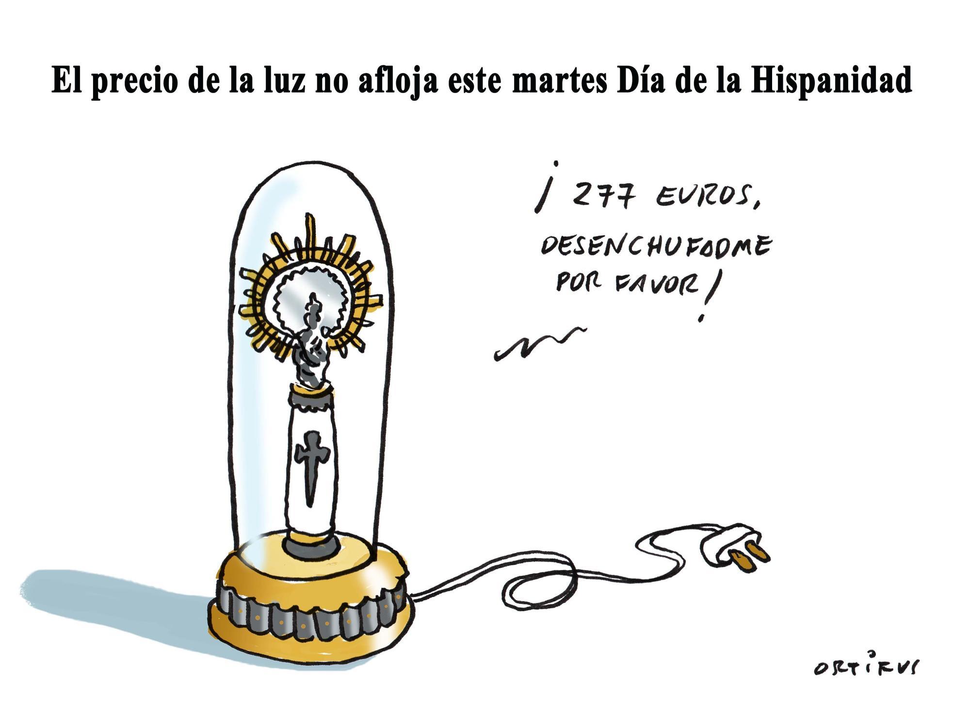 El precio de la luz no afloja este martes Día de la Hispanidad