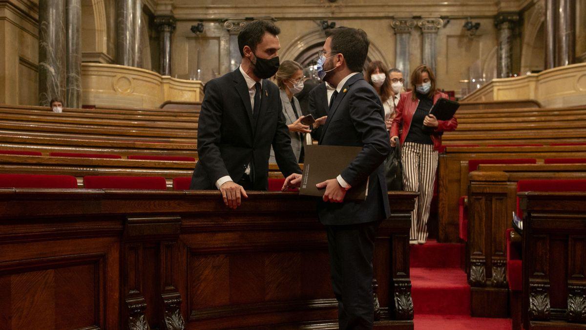 Roger Torrent y Pere Aragonès.
