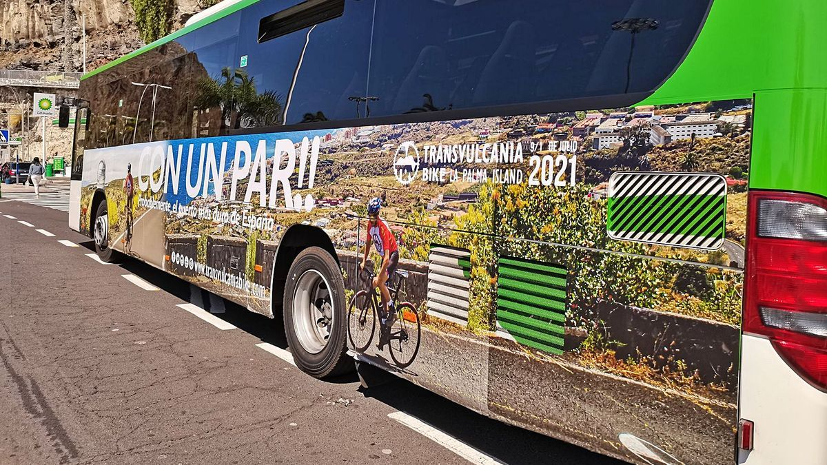 Una de las imágenes de la campaña de la Transvulcania Bike.