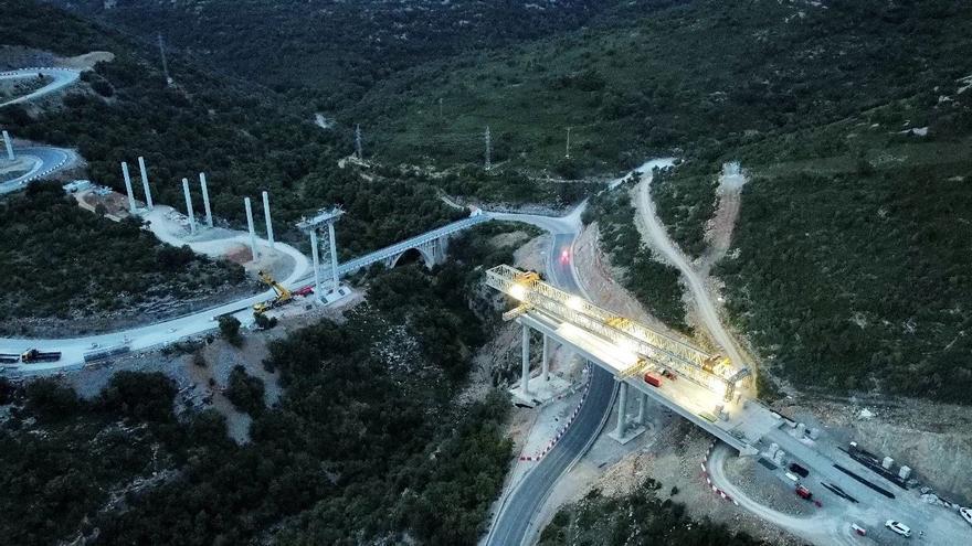 El Gobierno desvela los secretos del espectacular puente de la N-232 en Morella