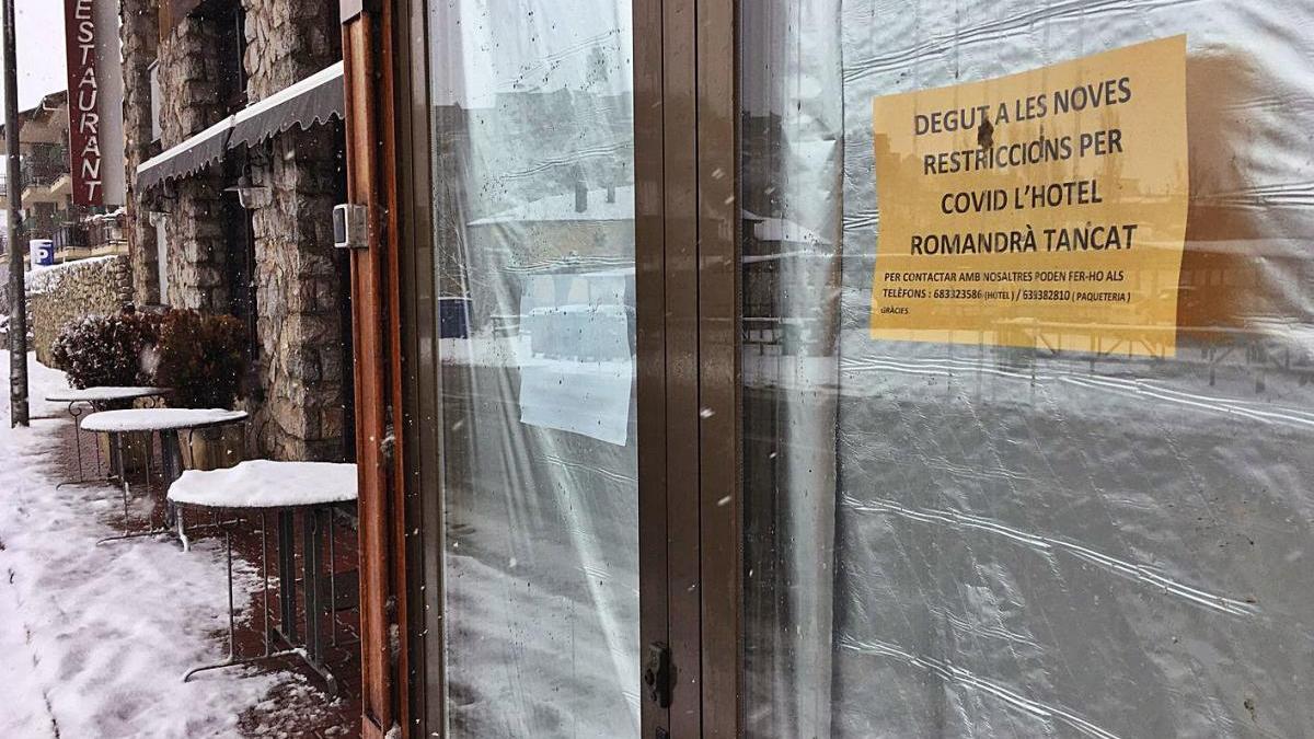Un hotel de la Cerdanya tancat per la impossibilitat de rebre clients