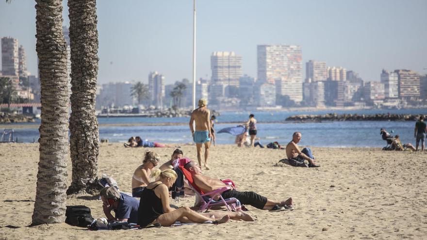 El tiempo en Alicante: El viento sur deja la máxima en los 27 grados en Mutxamel y Elche