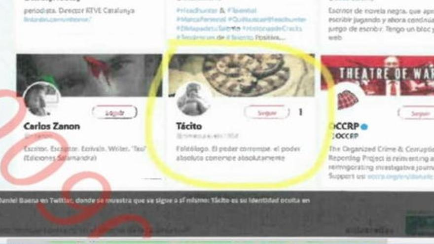El jutjat 13 rebutja investigar si el cap de la policia judicial de la Guàrdia Civil a Catalunya era «Tácito» a Twitter