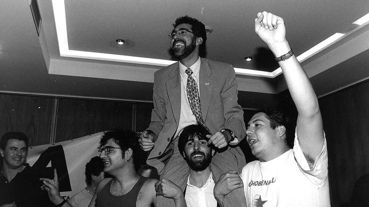 Icónica imagen del desaparecido Chesús Bernal, fundador de CHA, tomada en marzo de 1995.