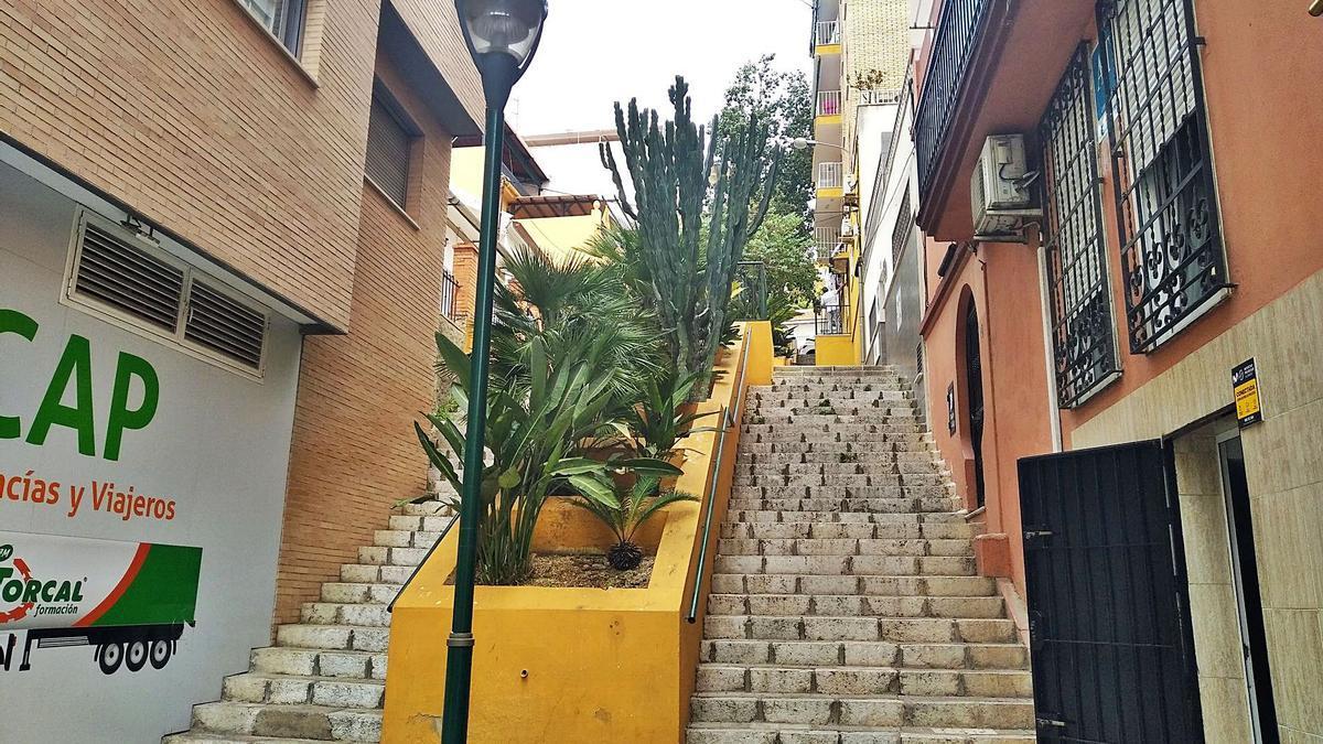 La calle Andes, en El Palo.