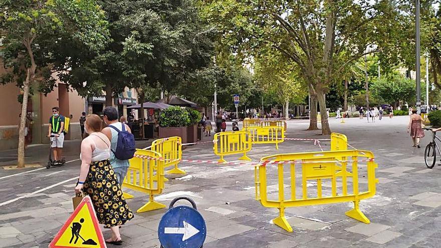Reparaciones en la plaza España