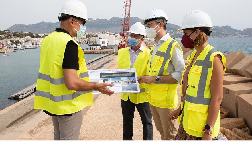 Colocan 3.500 toneladas de hormigón en el puerto de Altea para afrontar los temporales