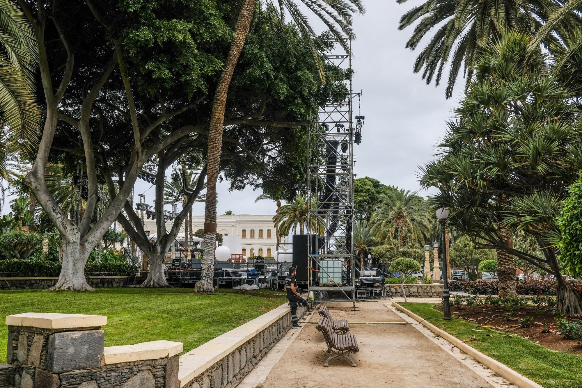 Así es el escenario en el Parque Doramas para el concierto de Dudamel