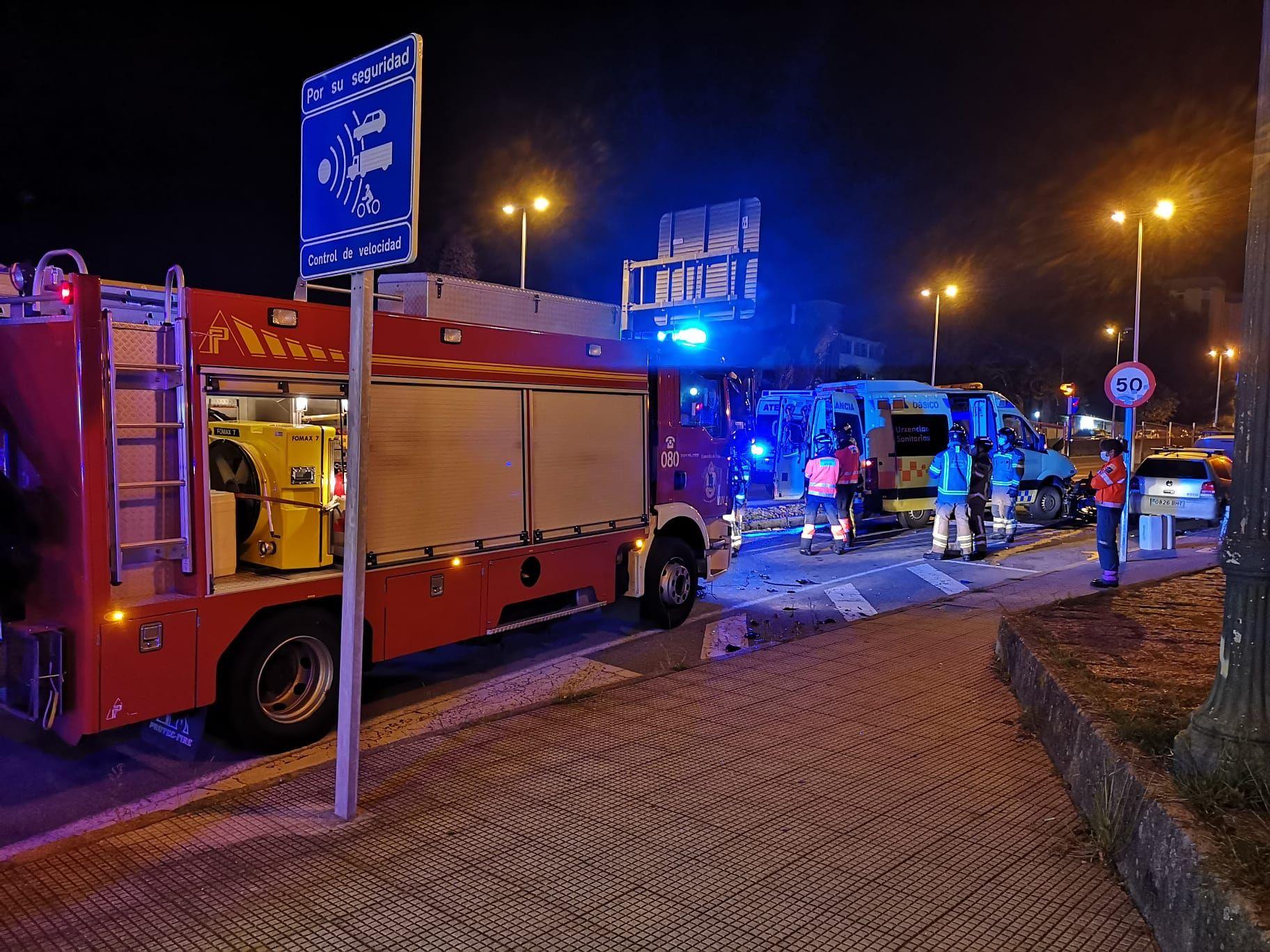 La colisión entre la motocicleta y la ambulancia