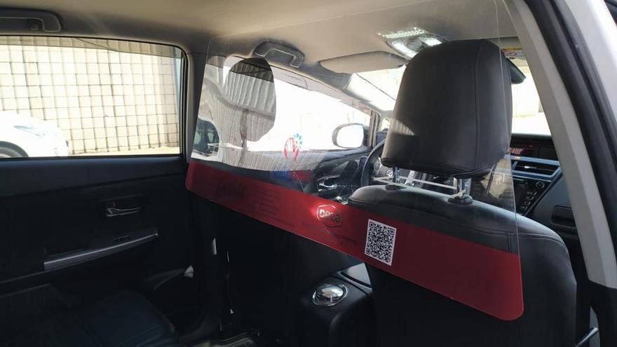 Pidetaxi Córdoba instala mamparas de protección en sus vehículos