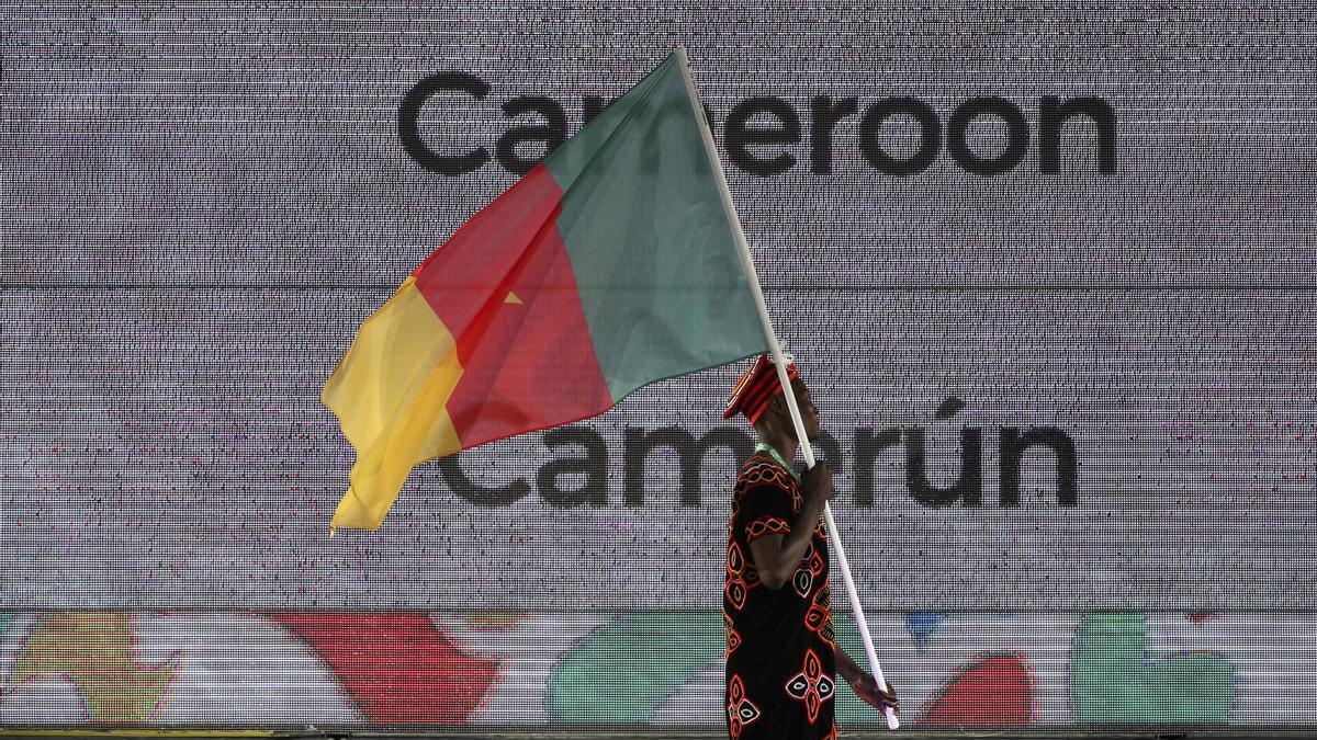 Imagen de archivo de la bandera de Camerún.