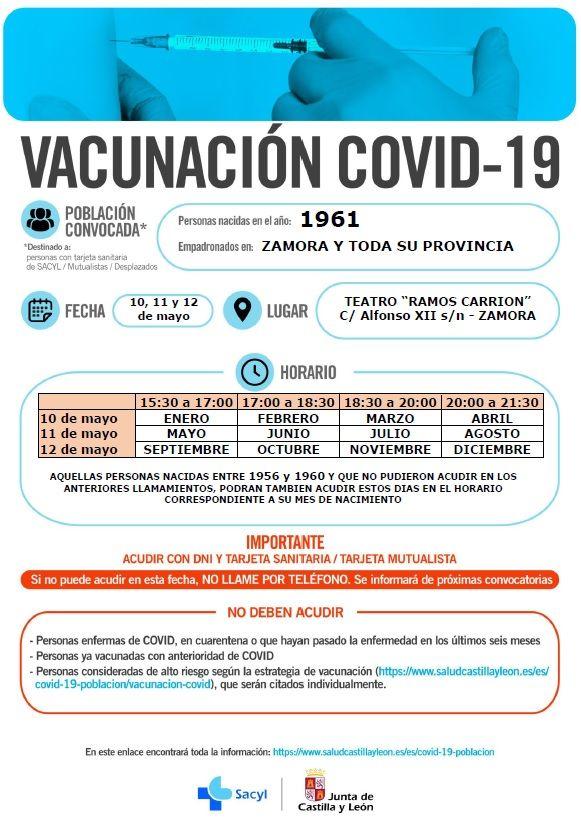 Vacunación en Zamora de 1961