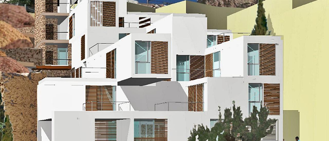 Recreación gráfica del futuro edificio de viviendas sociales en El Portón.   INFORMACIÓN