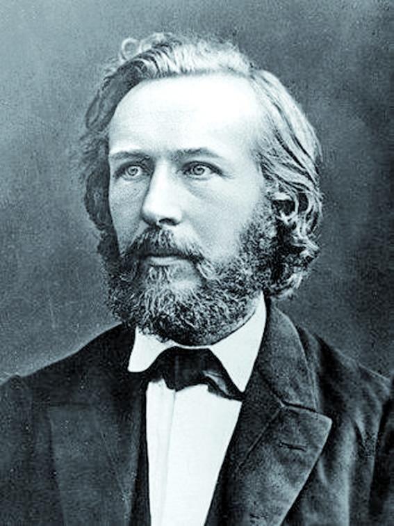 """Retrato de Ernst Haeckel,  padre del término """"ecología""""."""