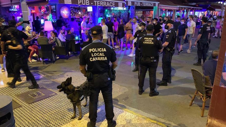 Vigilancia policial en el CC Yumbo