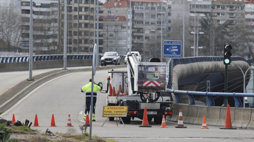 Reabre el túnel de Beiramar tras un cierre por avería que colapsó el centro de Vigo