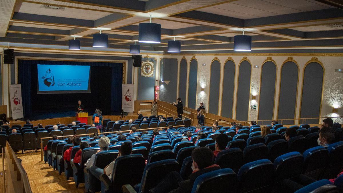 Vista general del nuevo salón de actos del Seminario de San Atilano.