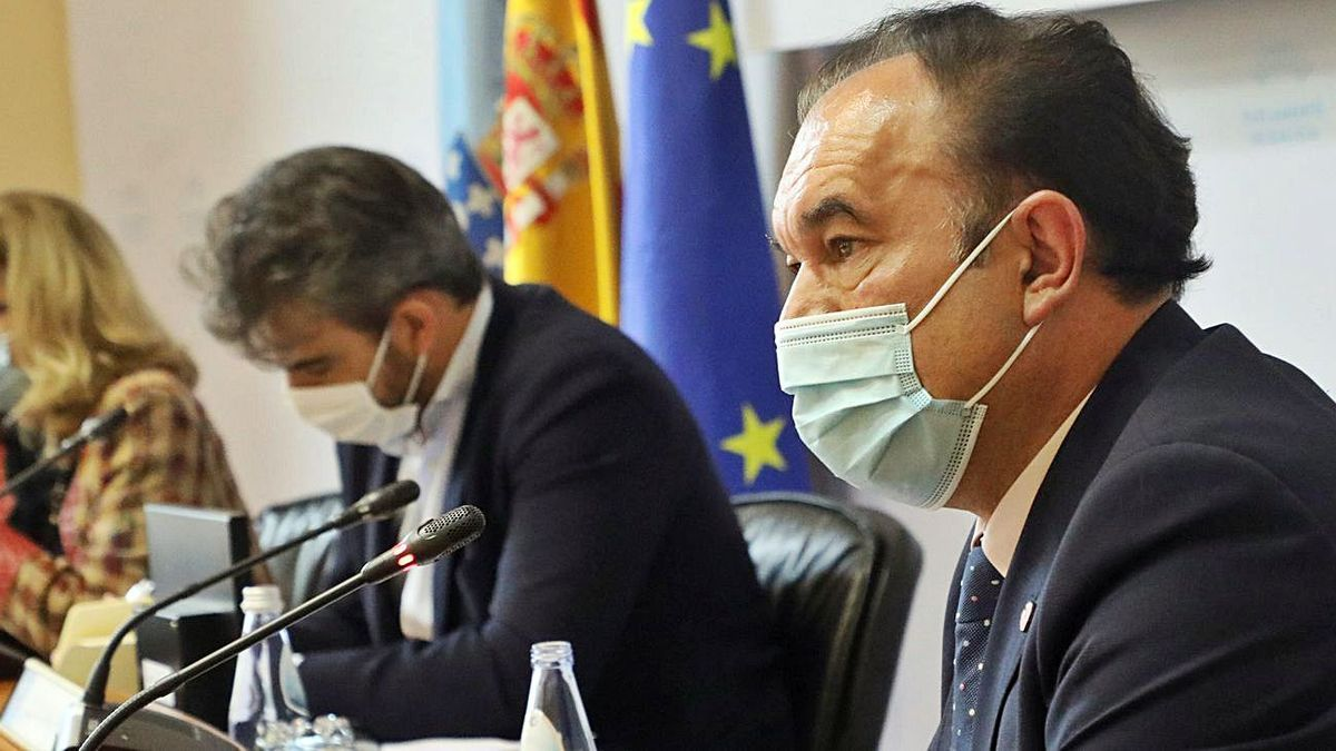 Crespo, en su comparecencia  en la comisión.   | // XOÁN ÁLVAREZ