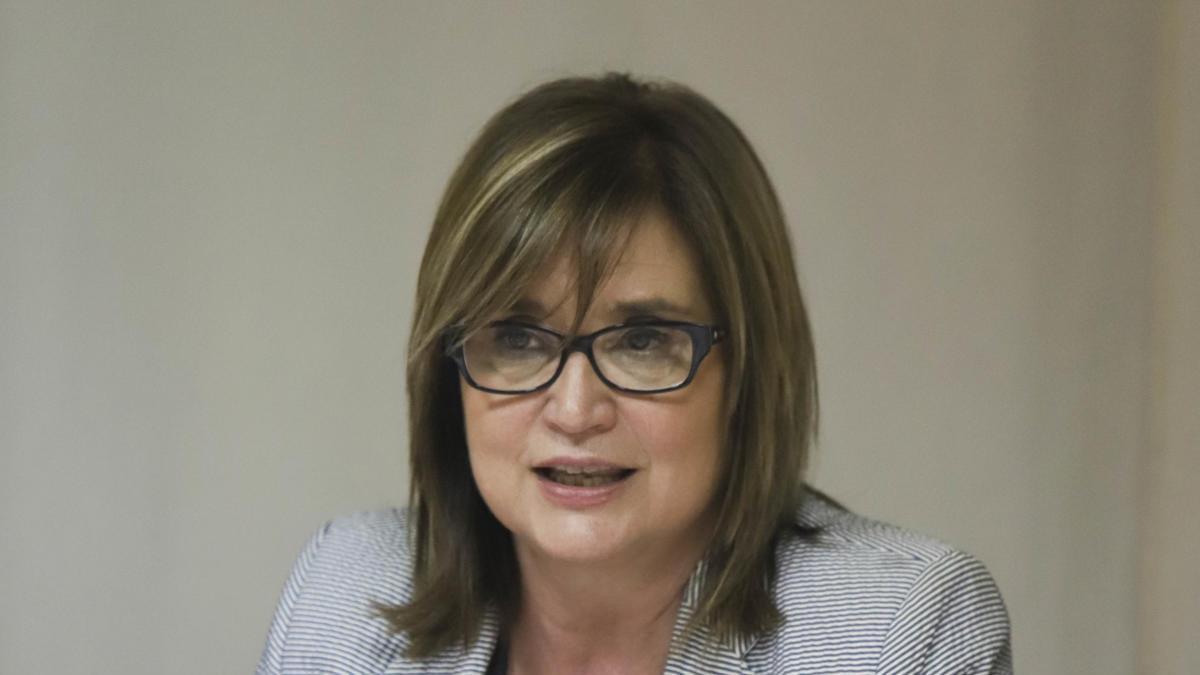 La portavoz del PP de Xàtiva, Maria José Pla, en una imagen de archivo.