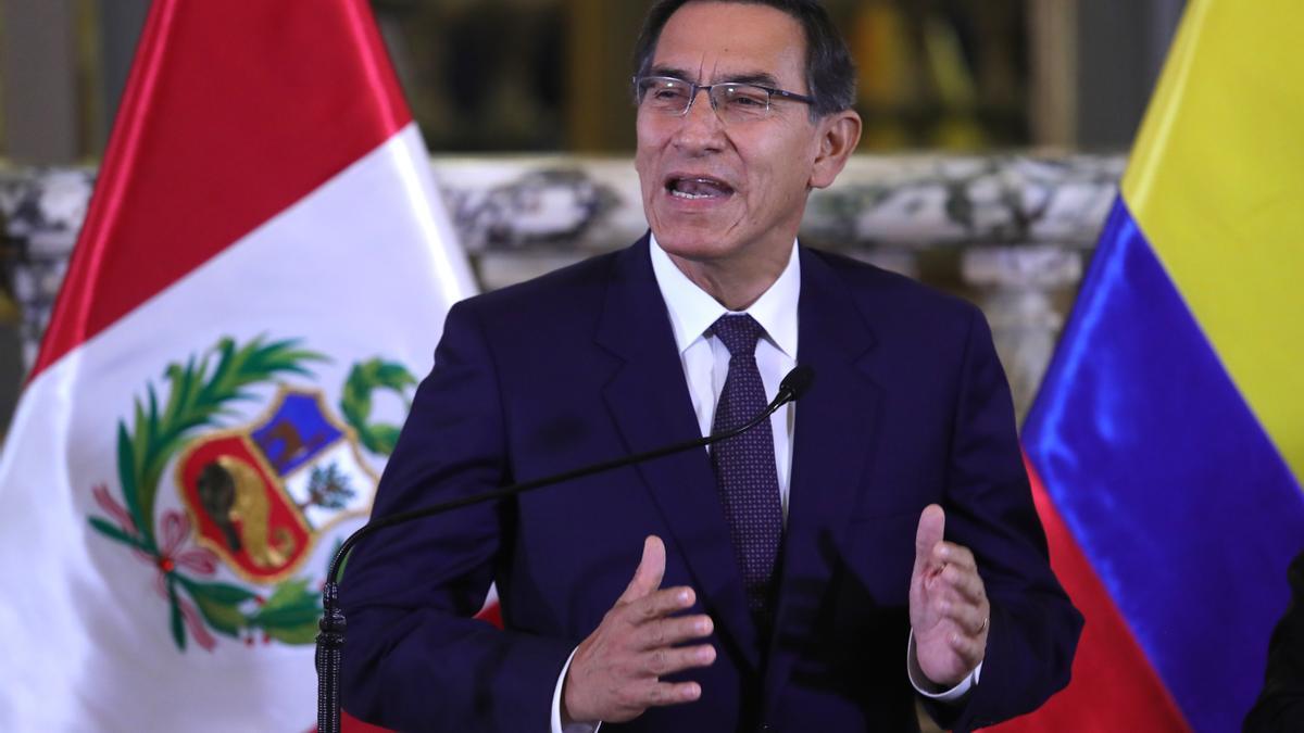 El expresidente peruano Vizcarra.