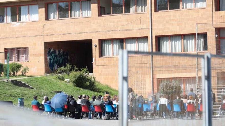 Claustro al aire libre en el Monte Naranco para evitar contagios
