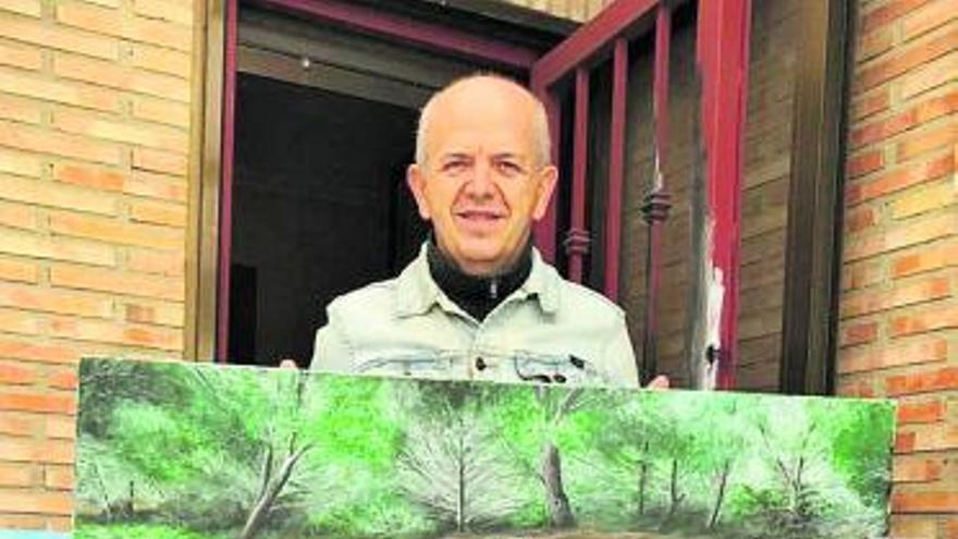 Un pintor de Moncada subhasta un quadre per a la Plataforma de les Fosses de Paterna