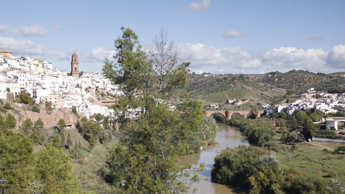 """Vista de Montoro, conocida como la """"bella escondida"""" desde desde el Hotel Mirador"""