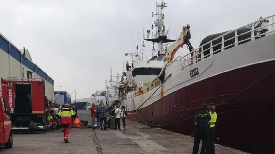 Herido un bombero tras un escape de amoniaco en el Puerto de Las Palmas