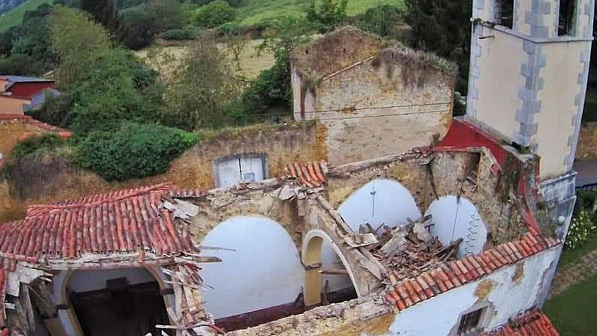 Estado actual de la iglesia de Santa María de Loriana.