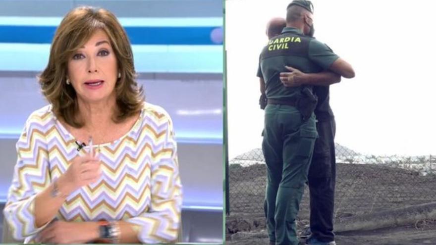 """Ana Rosa, emocionada con el trabajo de la Guardia Civil: """"Están sufriendo mucho. Están dando un ejemplo"""""""