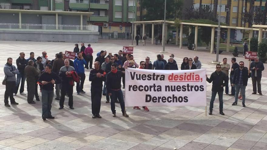 Protesta de la Policía Local de Molina