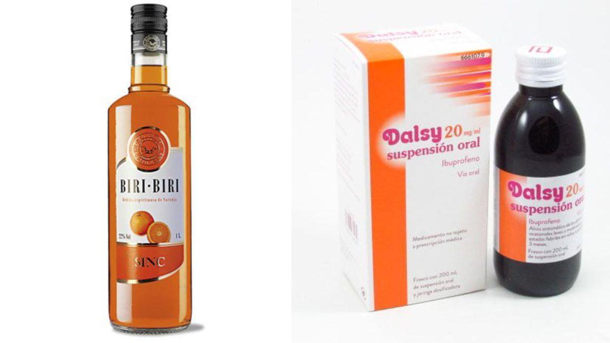 A la izquierda, la bebida 'Biri Biri' hecha en Alcoy; y a la derecha, el jarabe Dalsy.