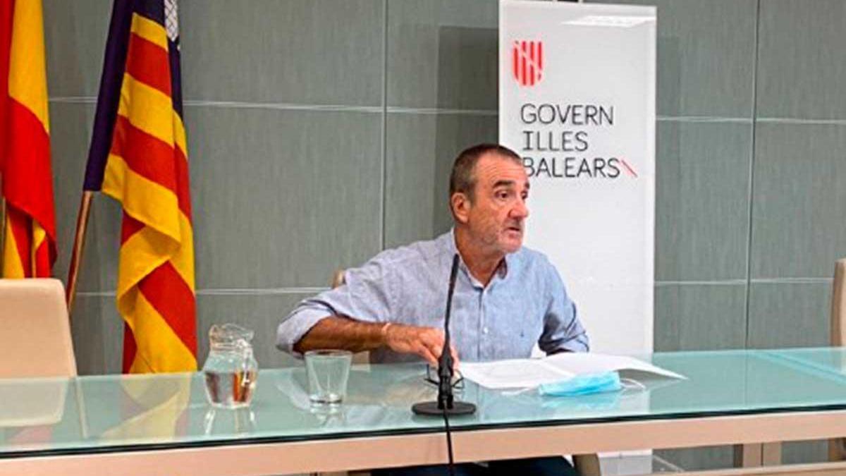 El vicepresidente Yllanes, ayer.