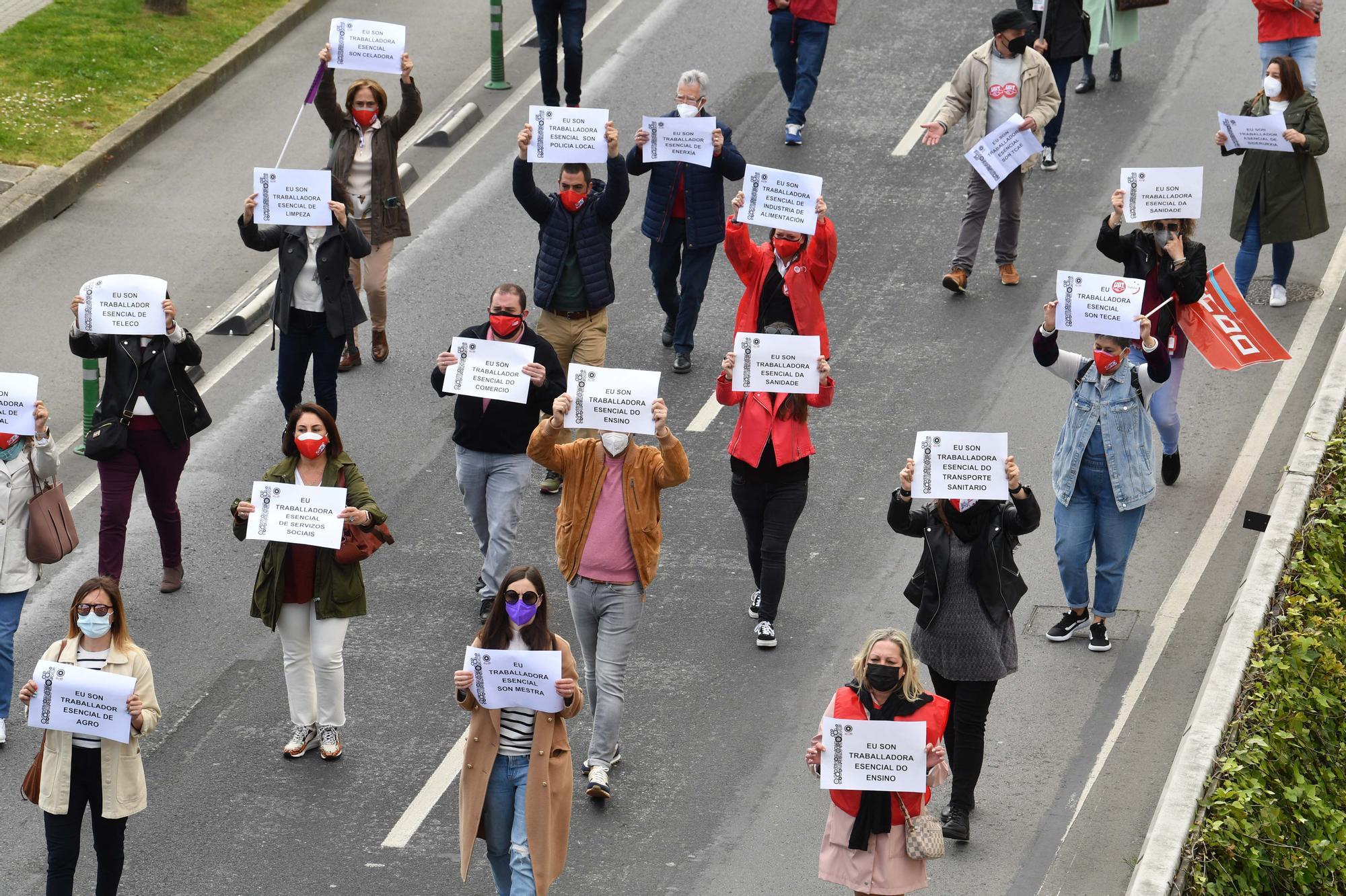 Manifestación del 1 de mayo en A Coruña